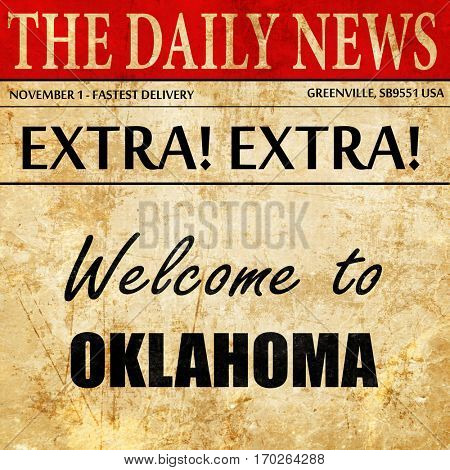 Welcome to oklahoma, newspaper article text