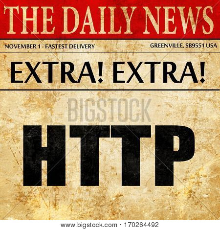 http, newspaper article text
