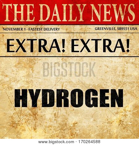 hydrogen, newspaper article text