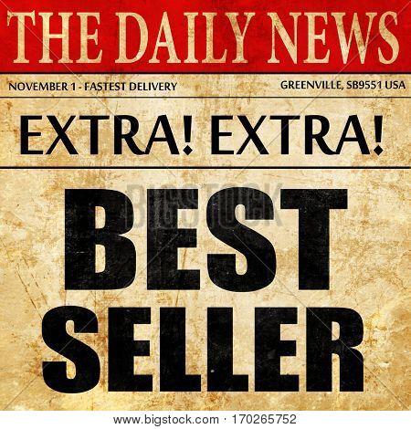 best seller, newspaper article text