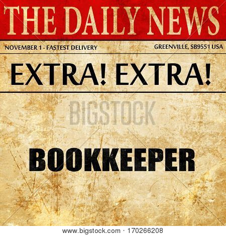bookkeeper, newspaper article text