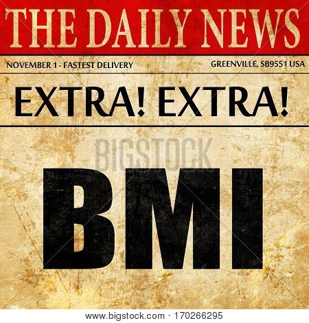 bmi, newspaper article text