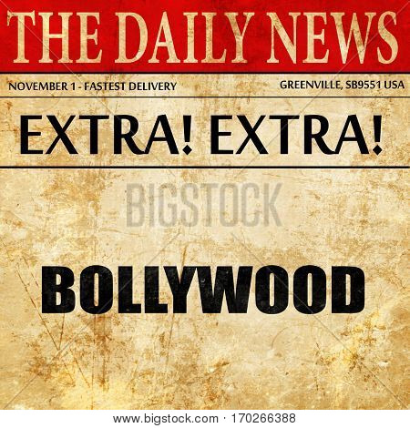 bollywood, newspaper article text