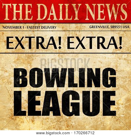 bowling league, newspaper article text