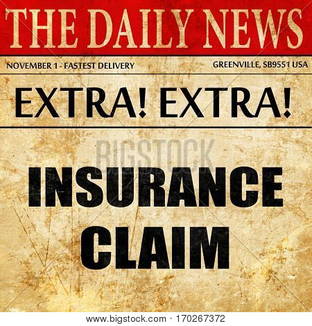 insurance claim, newspaper article text