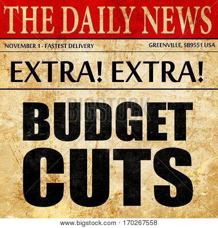 budget cuts, newspaper article text