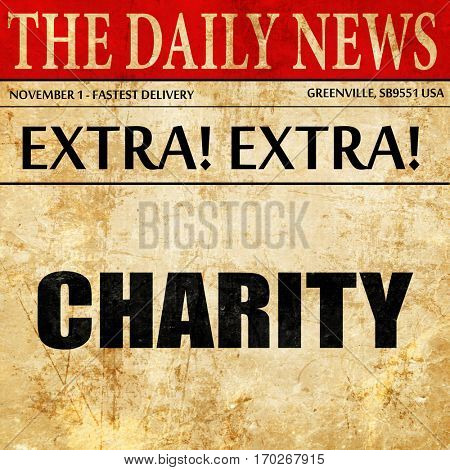 charity, newspaper article text