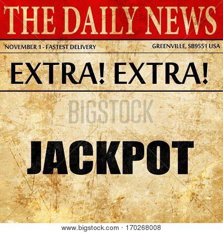 jackpot, newspaper article text