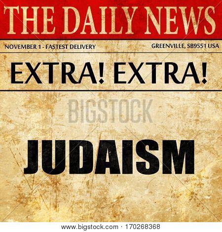 judaism, newspaper article text