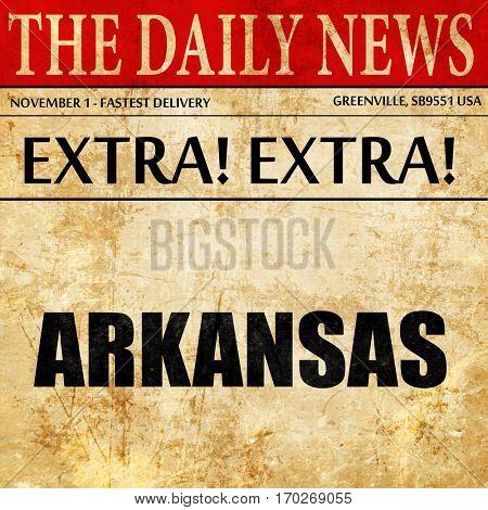arkansas, newspaper article text