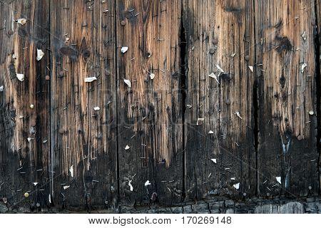 Burnt Wooden Wall