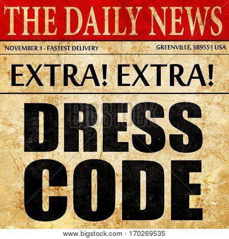 dress code, newspaper article text