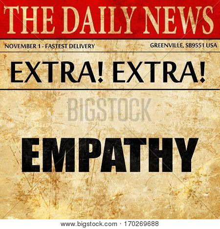 empathy, newspaper article text