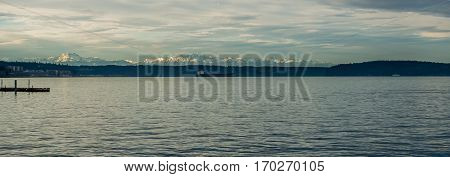 A view of the Olympic Mountains from the Ruston area of Tacoma.