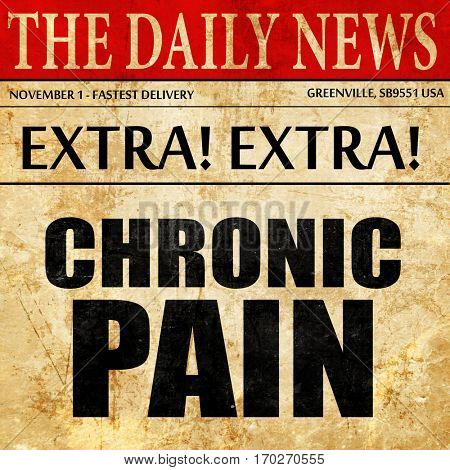 chronic pain, newspaper article text