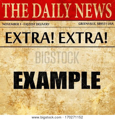example sign background, newspaper article text