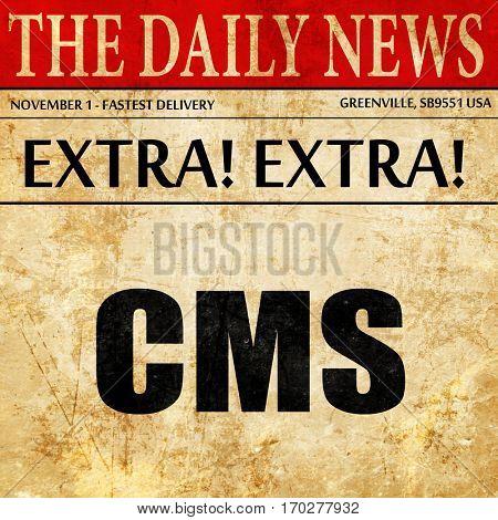 cms, newspaper article text