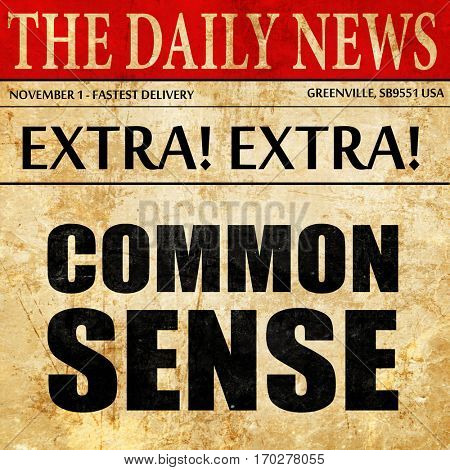 common sense, newspaper article text