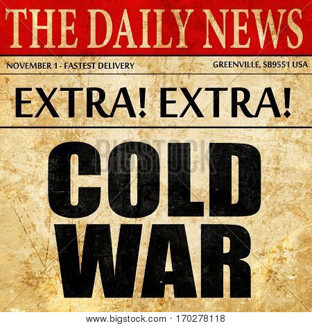 cold war, newspaper article text