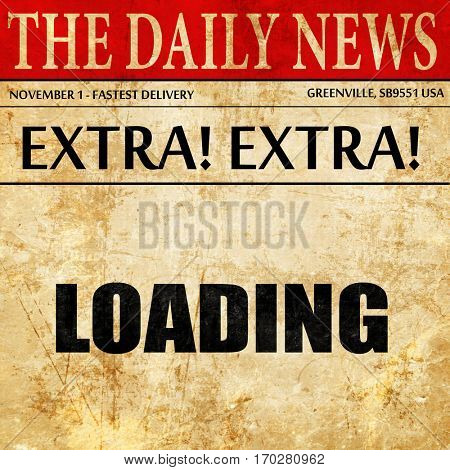 loading, newspaper article text