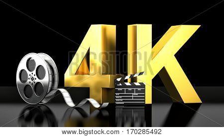 cinema 4k concept 3d rendering image