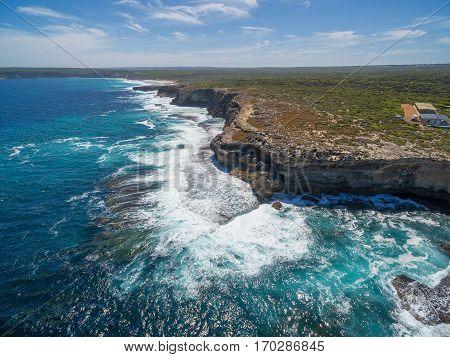 Aerial view of Kangaroo Island rugged coastline