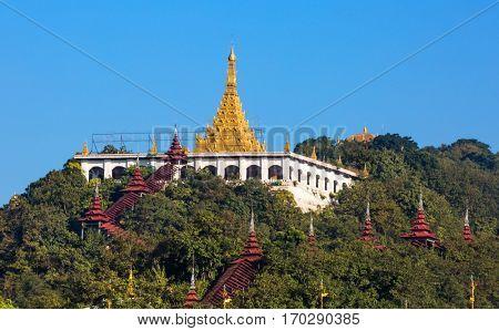 Sandamuni Pagoda temple at Mandalay city in Myanmar