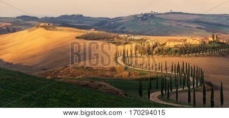 Italy. Tuscany. Morning at villa Agriturismo Baccoleno
