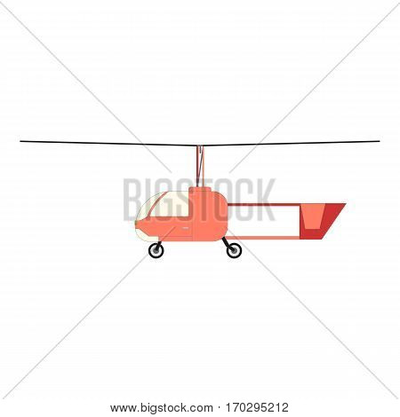 Fly small helicopters. Air transportation. Helicopters travel aviation propeller, copter vehicle emergency speed aerial. Vector eps10