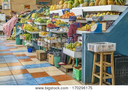 Fruits And Vegetables La Merced Market Riobamba Ecuador