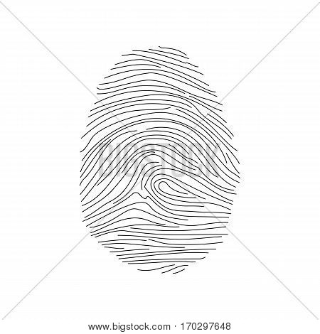 Fingerprint security id icon. Vector human finger identity print