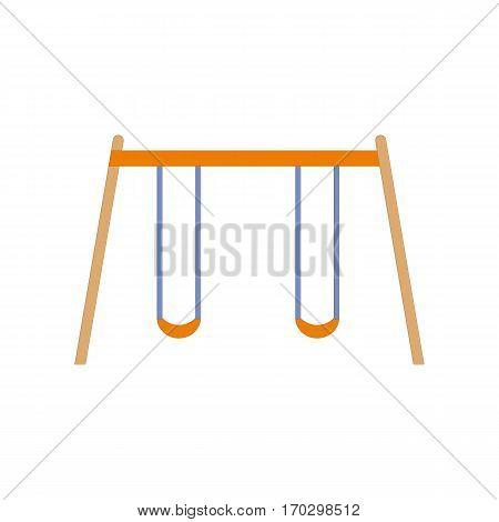 Children swing on isolated white background. Vector illustration for app