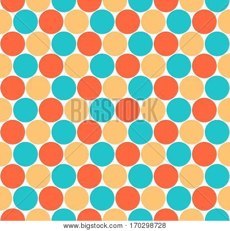 Use it in all your designs. Seamless pattern with circular shapes. Quick and easy recolorable shape. Vector illustration a graphic element