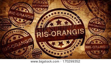 ris-orangis, vintage stamp on paper background