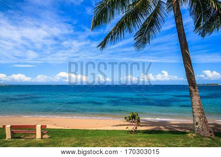 View of a beach at New Caledonia