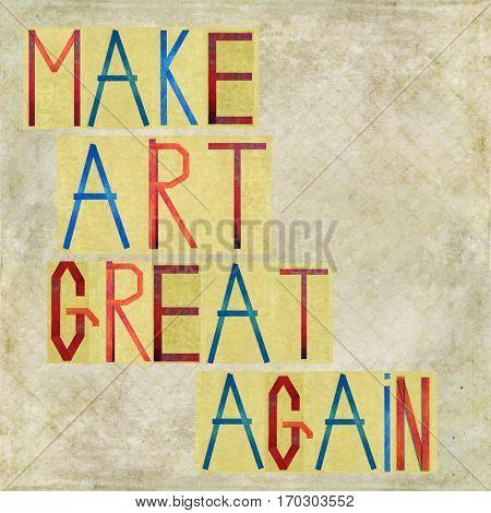 Make Art great again