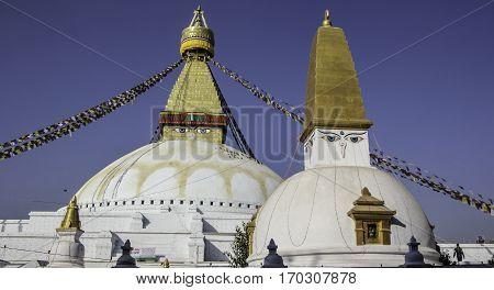 Boudhanath stupa is known as largest stupa of Nepal