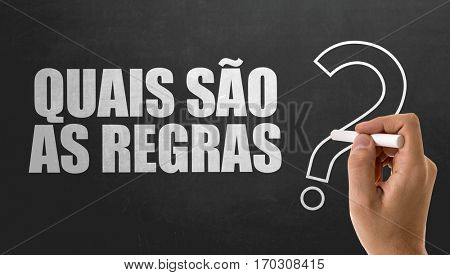 What Are The Rules? (in Portuguese)