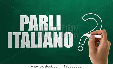 Do You Speak Italian? (in Italian)