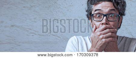 shocked man face