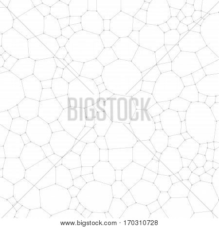 Chemistry pattern, molecular texture, polygonal molecule structure on white background. Medicine, science, microbiology concept, vector illustration
