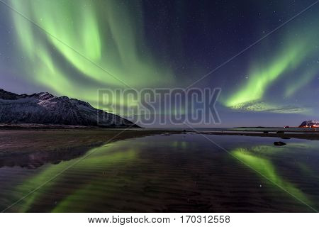 the Northern Lights in the the north of Norway