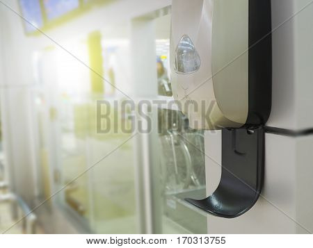 The public hand sanitizer gel in hospital