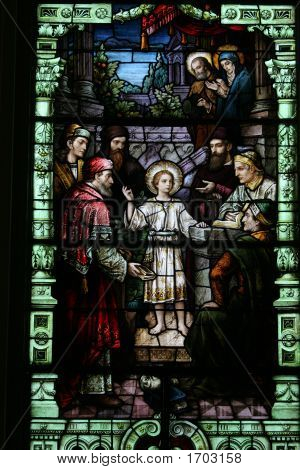 Catholic Stained Glass Window