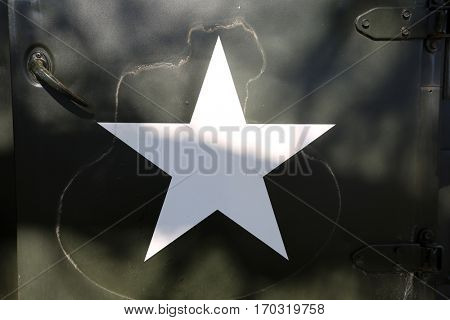 army truck. an old army truck with star.