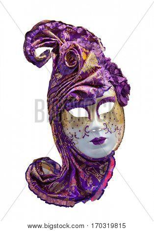 Right Venetian mask on white background