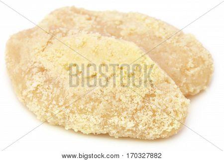Delicious Bangladeshi white chamcham over white background