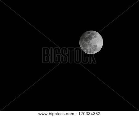 A full moon during a eclipse occurring