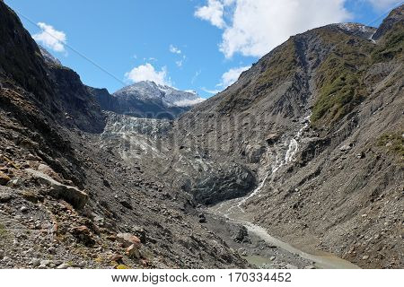 The Fox Glacier Terminus.  Westland National Park, New Zealand