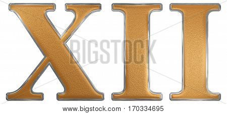 Roman Numeral Xii, Duodecim, 12, Twelve, Isolated On White Background, 3D Render